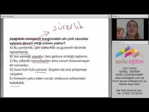 KPSS Türkçe Genel Tekrar Soru Çözümü #1  Gizem URAL