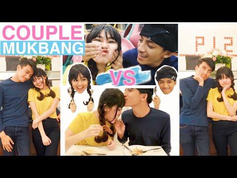 Pacaran Bikin Gendut! (Lomba Makan)   MUKBANG COUPLE + Review Pronto