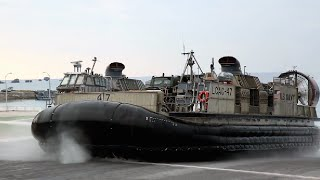 LCAC(エア・クッション艇) 沖縄「ホワイト・ビーチ地区」&「金武ブルー・ビーチ訓練場」