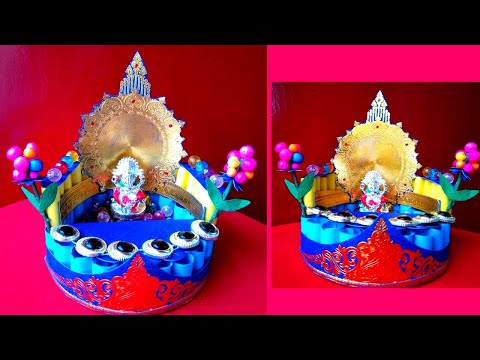 DIY Recycled paper Temple at Home|| Ganesh Mandap ||Simple DIY||