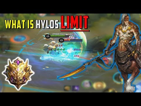 IS HE A GOOD TANK? HYLOS MYTHICAL RANKED + 3 Builds - Mobile Legends