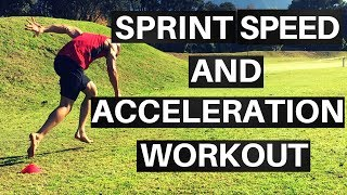 Training Explosive Speed: Acceleration + Sprint Speed Workout | Soccer Sprint Training
