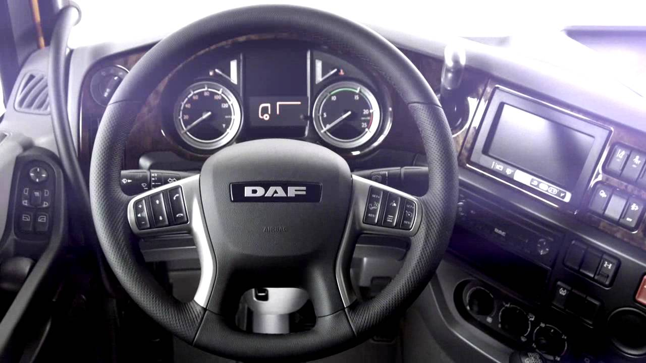 Meet the new DAF XF - interior - YouTube