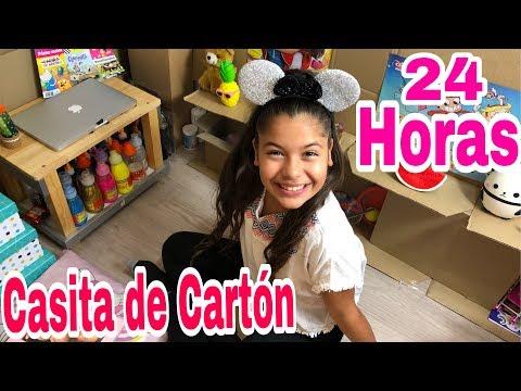 24 Horas En Mi CASITA De Cartón