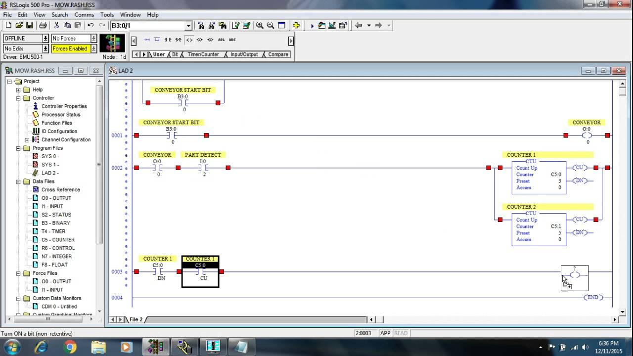 Allen Bradley Plc Training >> Video 2 Plc Programming Training Tutorial On Allen Bradley Rs Logix 500