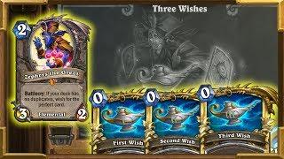 Hearthstone: This Deck Has x3 Zephrys ! Three Wishes | Tavern Brawl | Saviors Of Uldum
