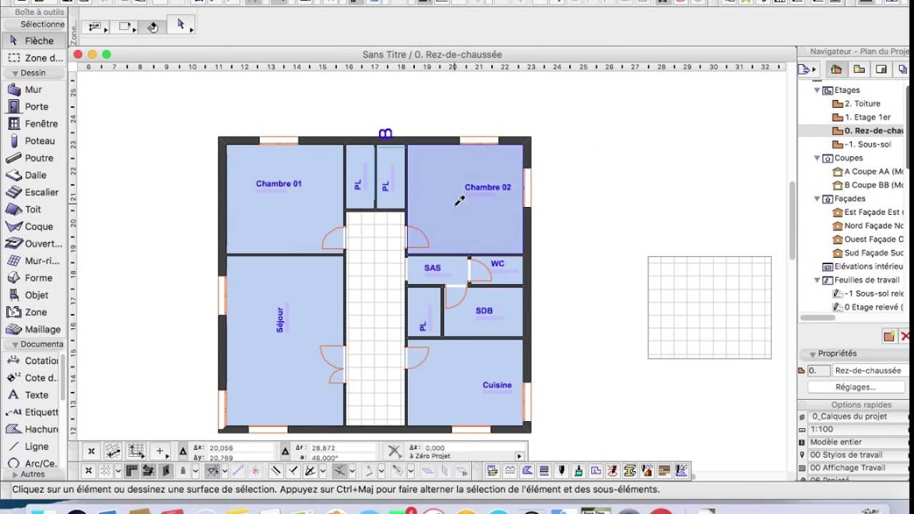calculer surface habitable automatique archicad tutorial - Comment Calculer Surface Habitable Maison