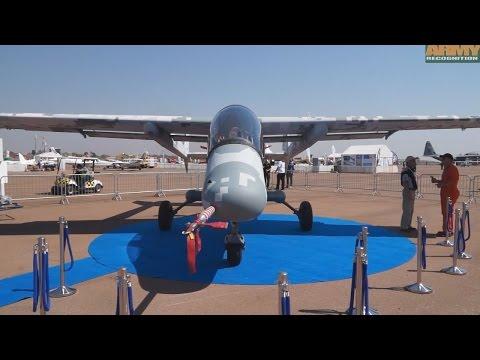 AHRLAC Advanced High performance Reconnaissance Light Aircraft first public display AAD 2014