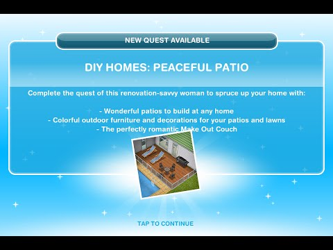 Sims Freeplay | Peaceful Patio Quest | Dream Homes Update 2