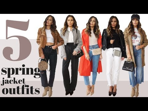 How to Style Spring Jackets | 5 Outfit Lookbook