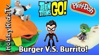 Burger Vs Burrito Battle! Teen Titans Go With Hobbymack By Hobbykidstv