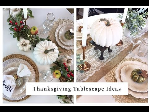 Thanksgiving Tablescape Ideas | Farmhouse Decor Ideas | momma from scratch