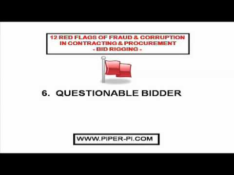 Bid Rigging 12 Red Flags Contract Procurement