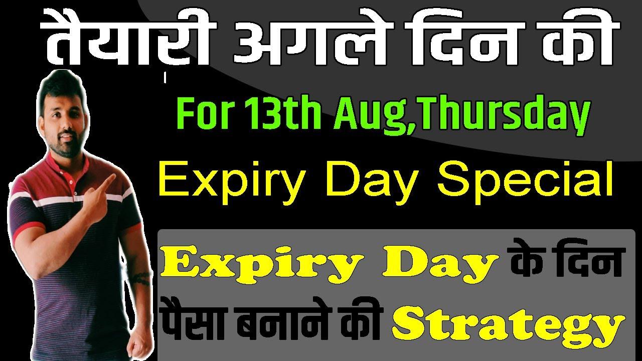 Expiry Day के दिन पैसा बनाने की स्ट्रेटेजी !!!