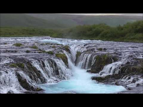 Bruarfoss, the Blue Waterfall in Iceland.