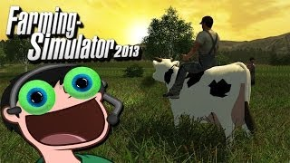 A MAN AND HIS COW | Farming Simulator 2013 w/ Daithi De Nogla - Part 2