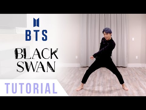 BTS - 'Black Swan' Dance Tutorial (Explanation + Mirrored) | Ellen and Brian
