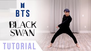 Download lagu BTS - 'Black Swan' Dance Tutorial (Explanation + Mirrored) | Ellen and Brian