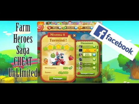 How to Cheat Farm Heroes Saga Facebook - Unlimited life ...