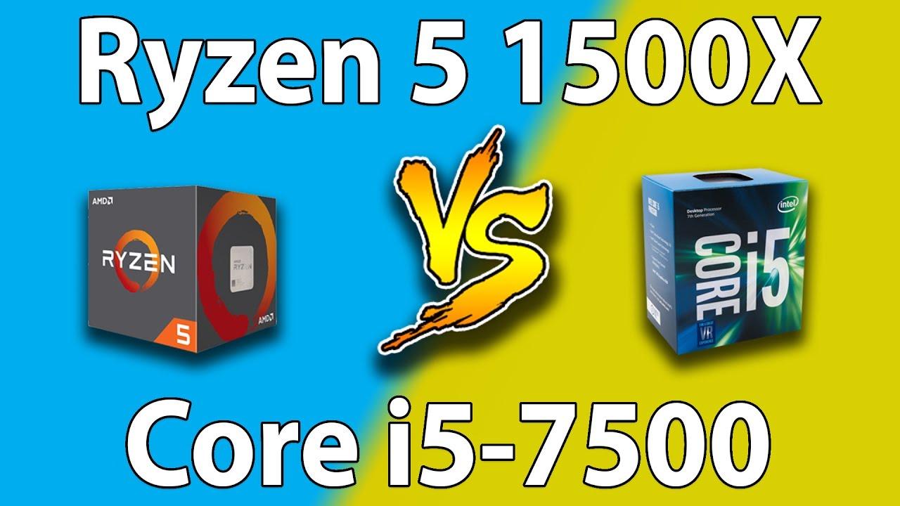 AMD Ryzen 5 1500X vs intel core i5-7500   Games Benchmarks