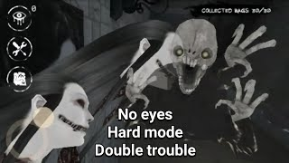 Against 2 Ghost Without Using Eyes - Eyes The Horror Game - Hard Mode - Double Trouble