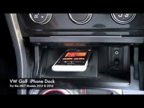 VW Golf MK7 iPhone Dock - YouTube