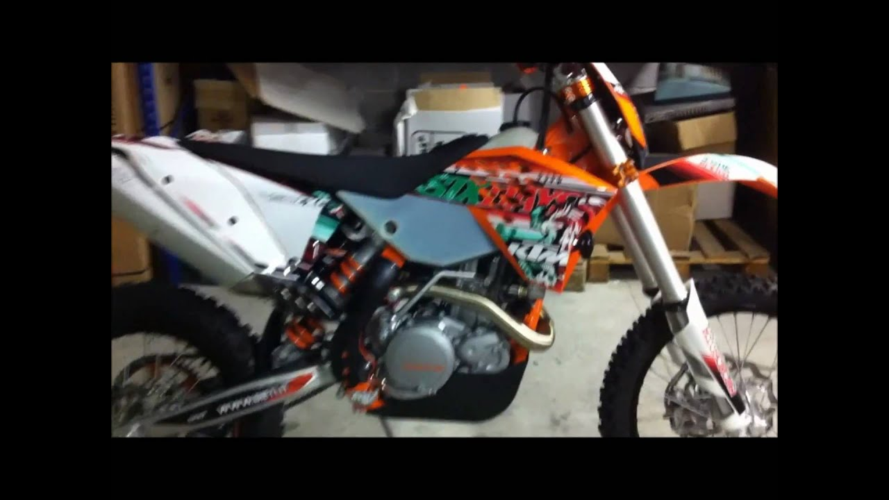 ktm 450 exc six days 2011 sound - youtube