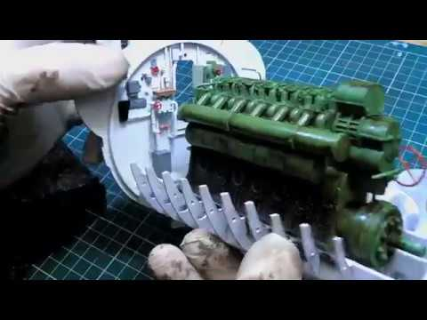 Trumpeter 1/48 DKM U-Boat Type VIIC U-552 (WWII) # 06801 Part 6: Weathering the Engine