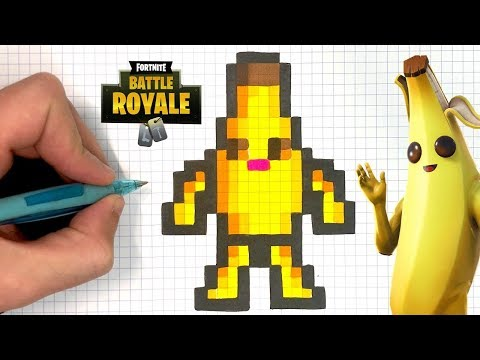 How To Draw Peely Pixel Art Fortnite Season 8 Youtube