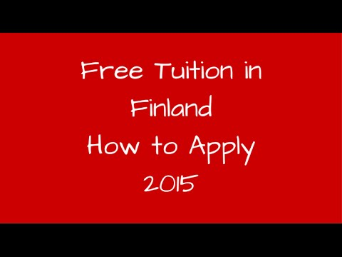 Free Tuition in Finland - How To Apply 2016