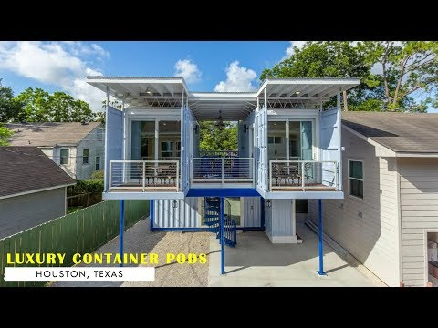 Luxury Shipping Container Living Pod In Houston, Texas