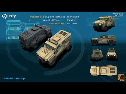 Mobile Military Vehicle Pack - Game Asset for Unity