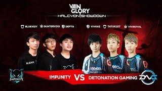 Vainglory Halcyon Showdown • Impunity (Southeast Asia) Vs Detonation Gaming (East Asia)