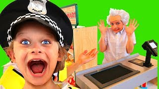 Grandpa Sockie Grocery Store Health Inspector | Pretend Play