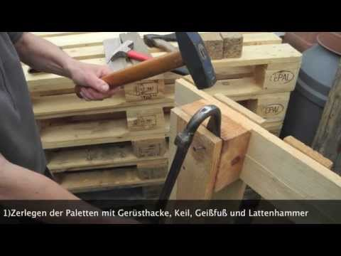 holzkiste aus paletten selber bauen diy doovi. Black Bedroom Furniture Sets. Home Design Ideas