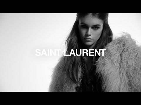 270b1e1d1b4 Kaia Gerber Stars in Saint Laurent's Fall Campaign