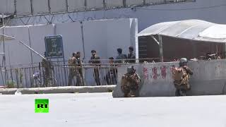 RAW: Gun fight and explosion in Kabul as unidentified attackers storm govt. ministry building