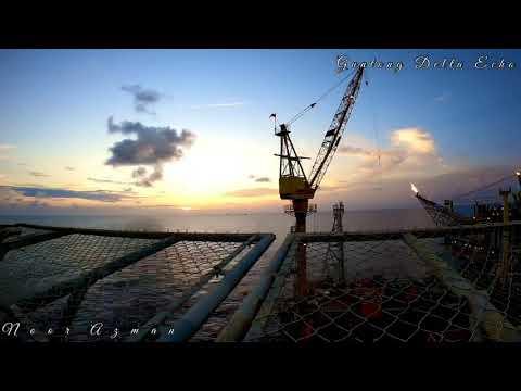Gopro hero 8 - Night lapse Offshore Oil & Gas