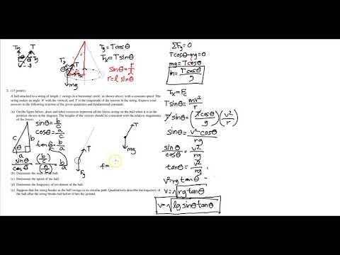 AP Physics B 2002 Form B FRQ: Hard Centripetal Force Problem