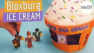 DIY Miniature Welcome to Bloxburg Roblox Toys Ice Cream