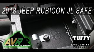 2018 Jeep Wrangler JL locking safe - Tuffy lock box