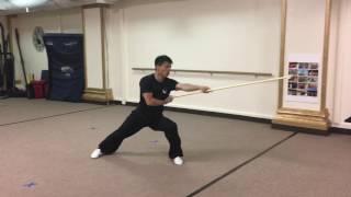 Slow motion Jing Wu、少林齐眉棍慢放教学、Shao Lin Qi mei gun