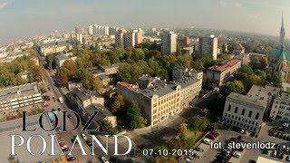 ŁÓDŹ Centrum - Panorama miasta z lotu ptaka