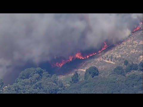 RAW: Chopper 5 Video Of Fire Burning In Oakland Hills