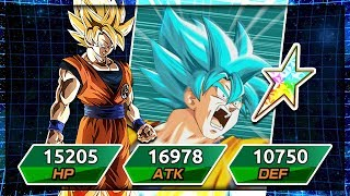 *NEW* 100% Rainbow star transforming SSJ Goku! The power of a saiyan! | Dragon Ball Z Dokkan Battle