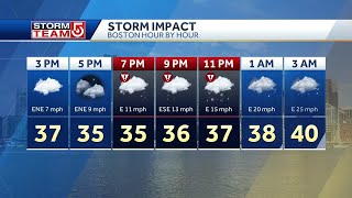 Video: Winter storm warnings up in Mass. for nor'easter