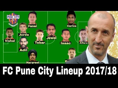 FC Pune City Potential Lineup 2017/18 ISL Season