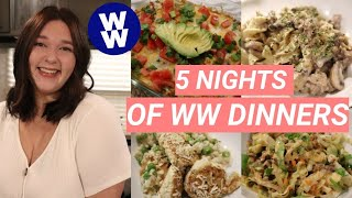 5 NIGHTS OF WW DINNER RECIPES YOU NEED TO MAKE! (MYWW BLUE PLAN)