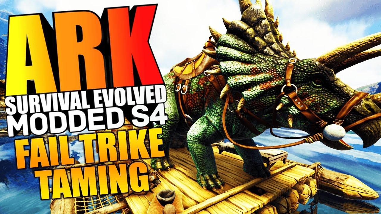 ARK Survival Evolved FUNNY FAIL TRIKE TAMING KING KONG ENCOUNTER Modded 1 ARK Mods