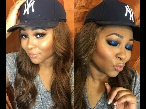 Smokey Blue Glitter Eyeshadow Makeup Tutorial | Beginner Friendly